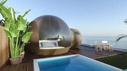 Fergus lanza tent Hotels, la cadena con habitaciones con burbujas exteriores